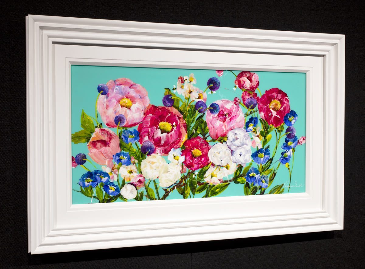 Flower Haze Rozanne Bell Framed