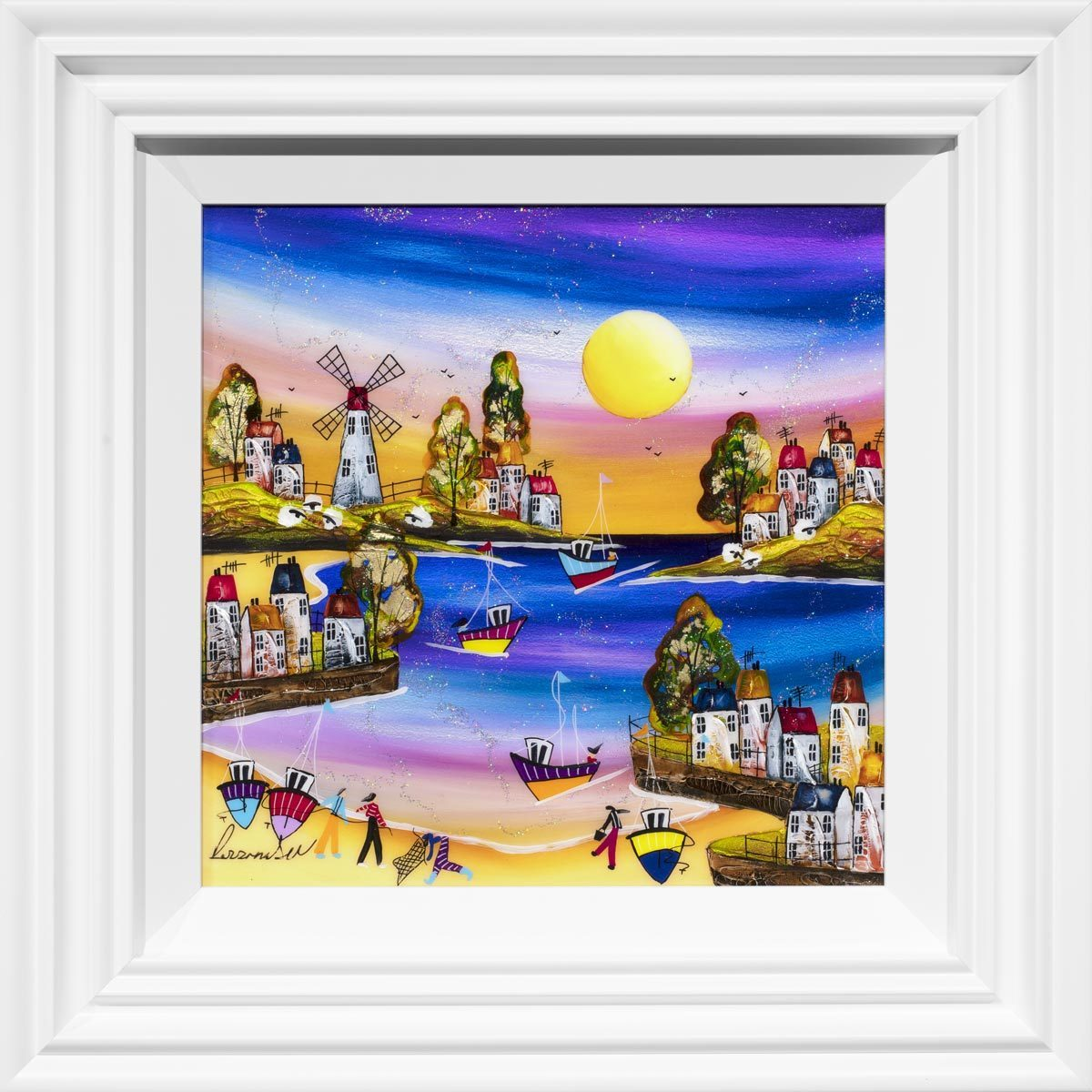 Going Fishing Rozanne Bell Framed