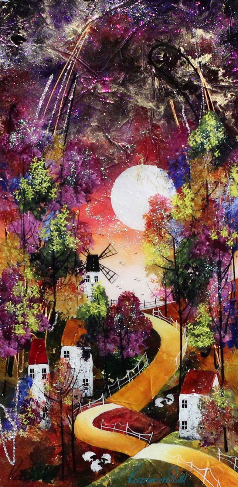 Golden Sky II - SOLD Rozanne Bell