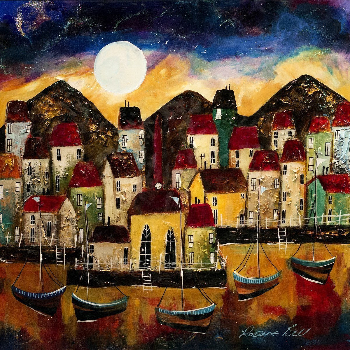 Harbour Moon - SOLD Rozanne Bell