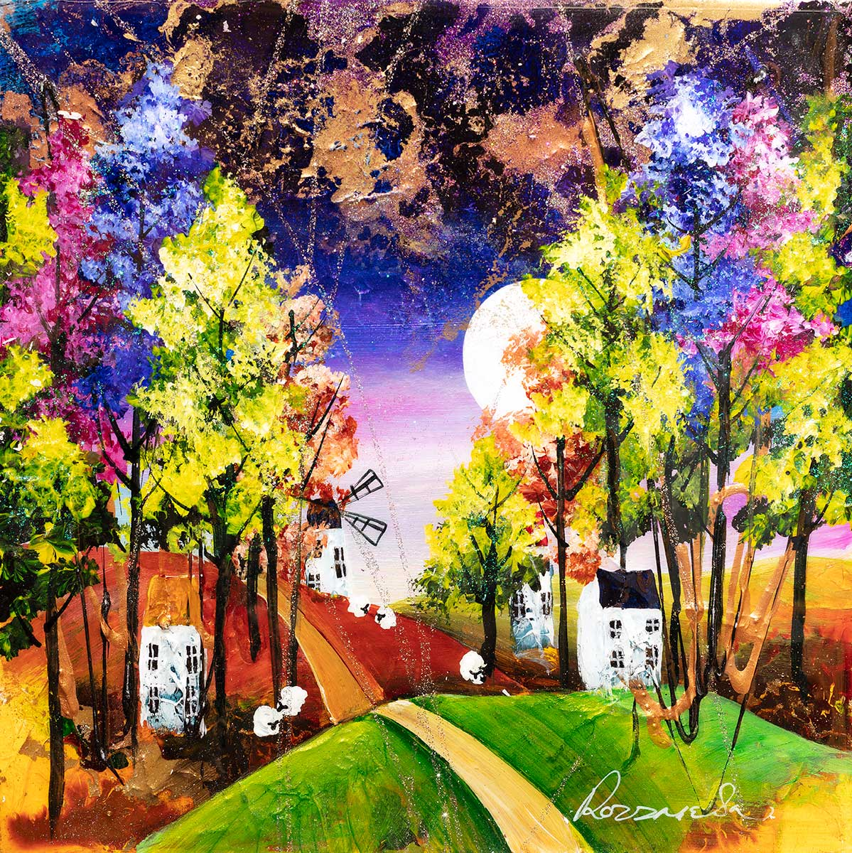 Houses on the Hill - Original - SOLD
