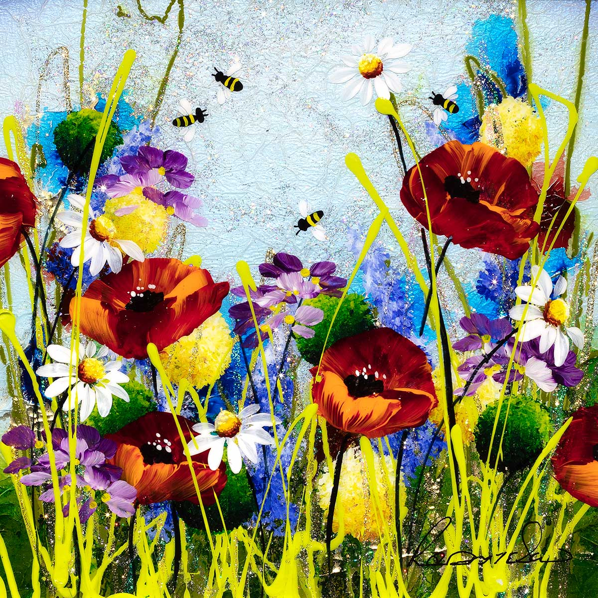 In The Meadow I - Original - SOLD