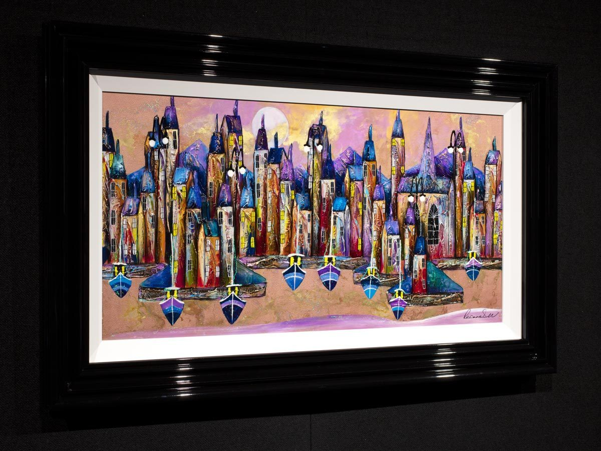 Iridescent Dreams - Original Rozanne Bell Framed