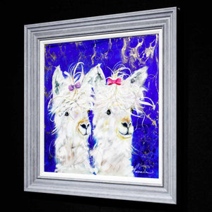 Lana and Lacey - Original Rozanne Bell Framed