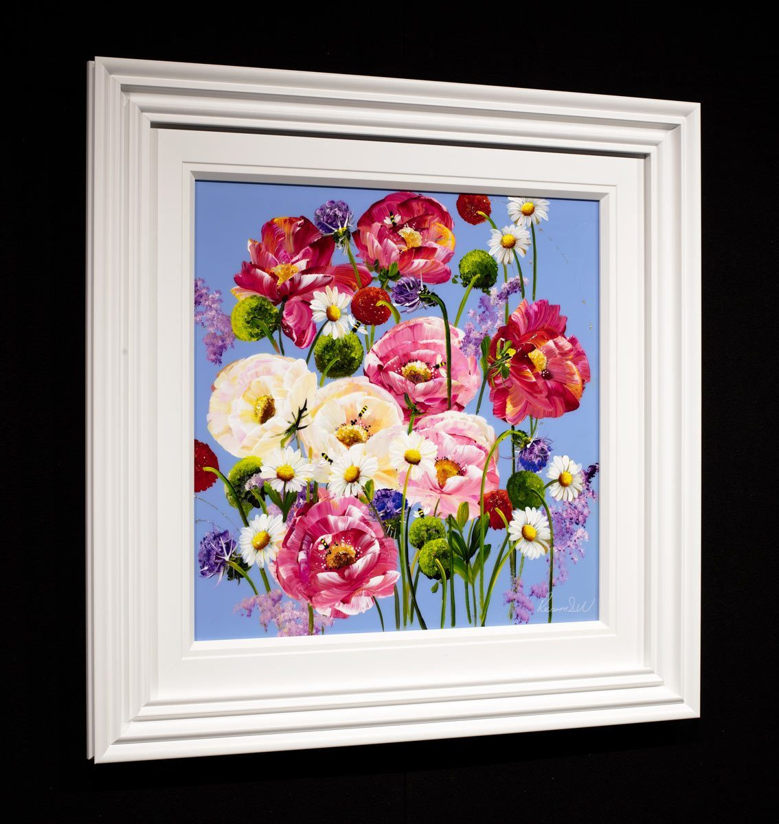 Lavender Bloom - Original Rozanne Bell Framed
