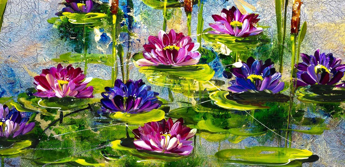 Lily pond - Original - SOLD