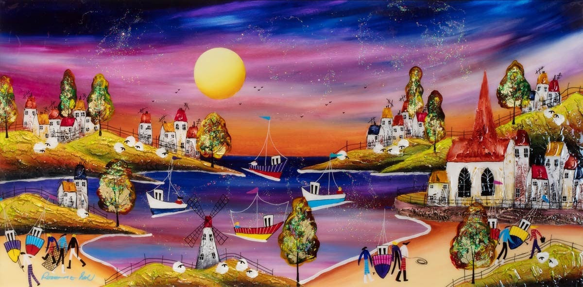 Little Fishing Village Rozanne Bell
