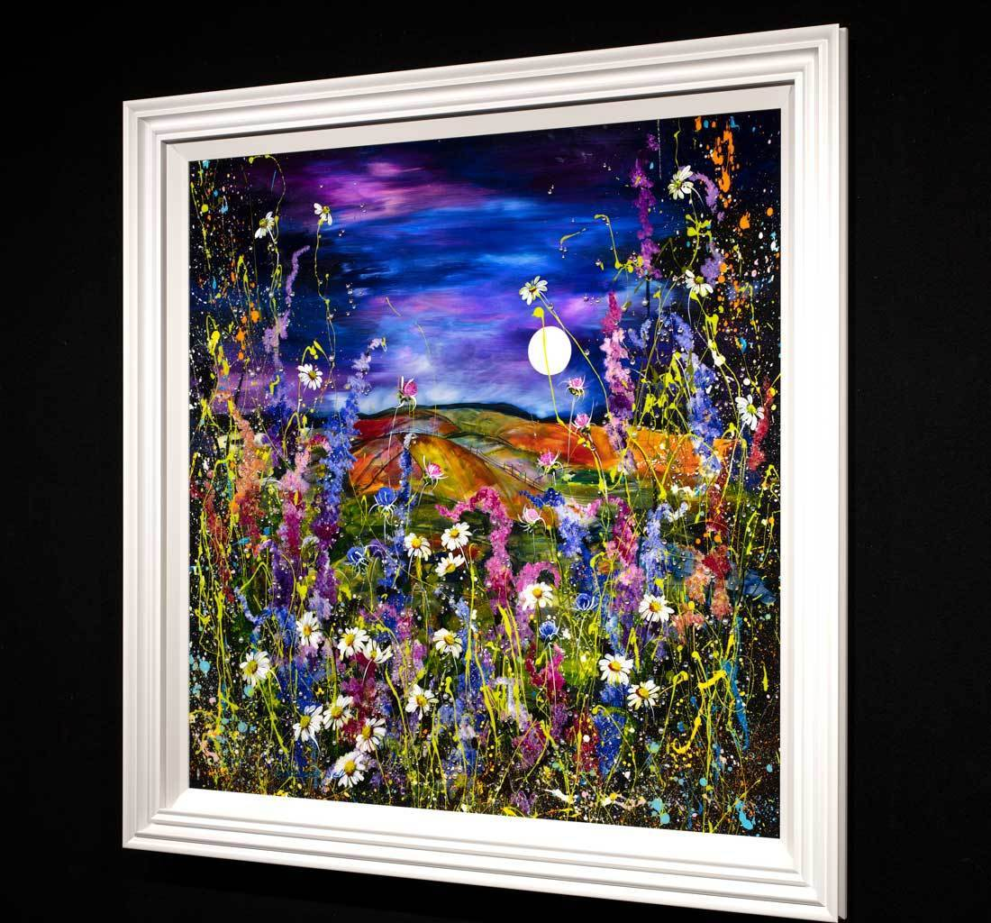Moonlight Dune - Original Rozanne Bell Framed