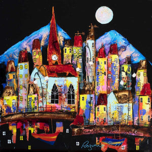 Moonlight Reflections - Original Rozanne Bell