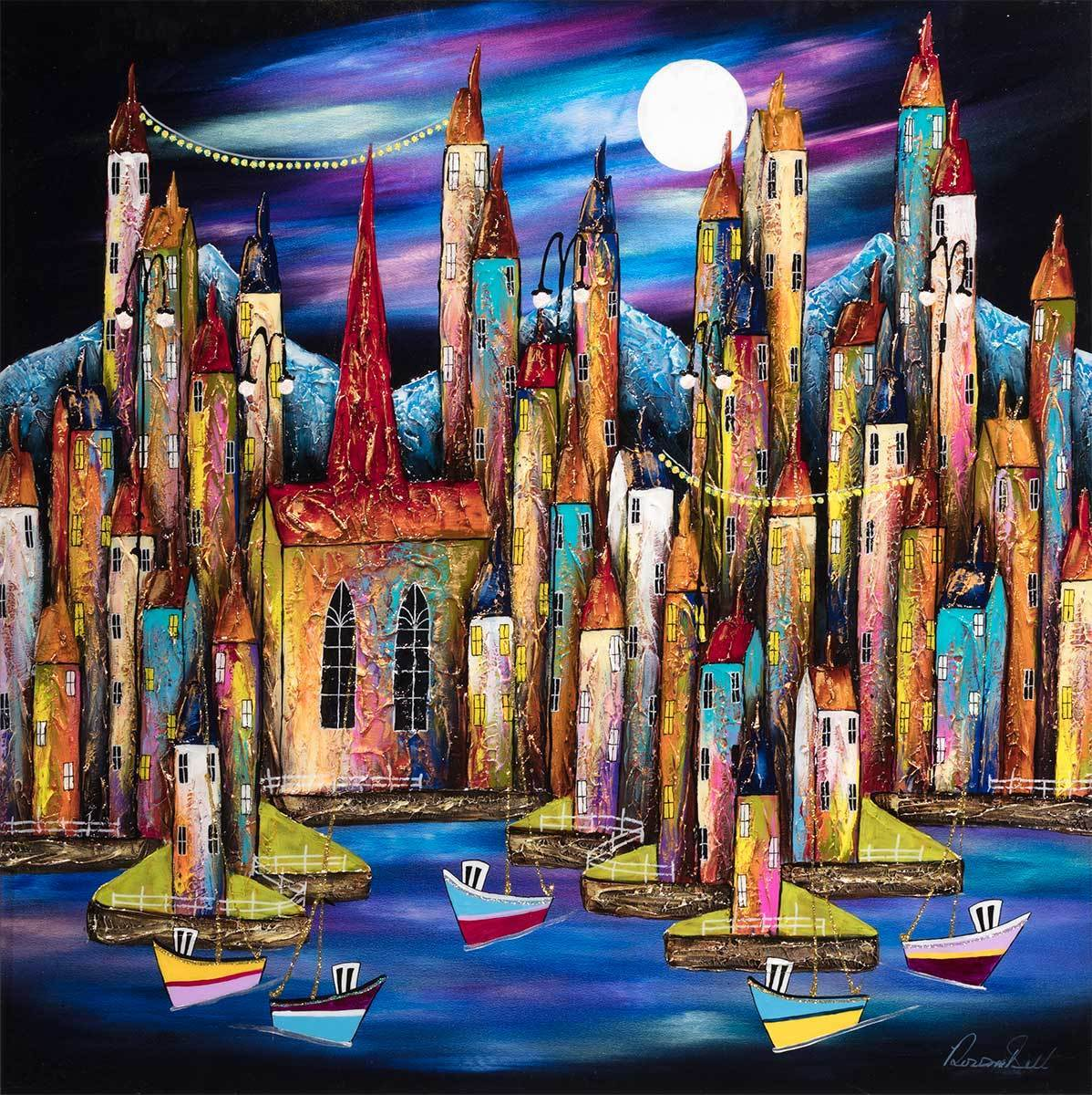 Moonlit Vacation - Original Rozanne Bell