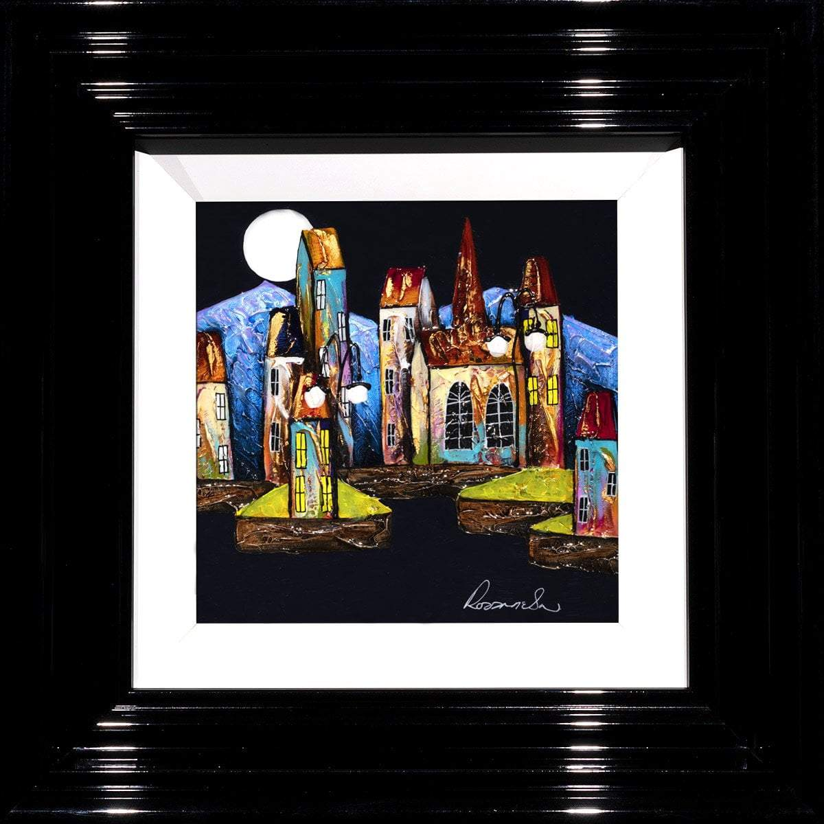 Mystic Moonlight - Original Rozanne Bell Framed