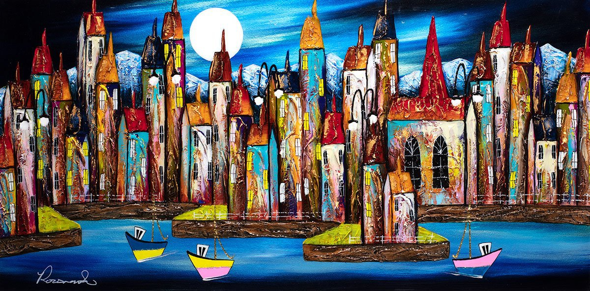 Nighttime Boating - Original - SOLD