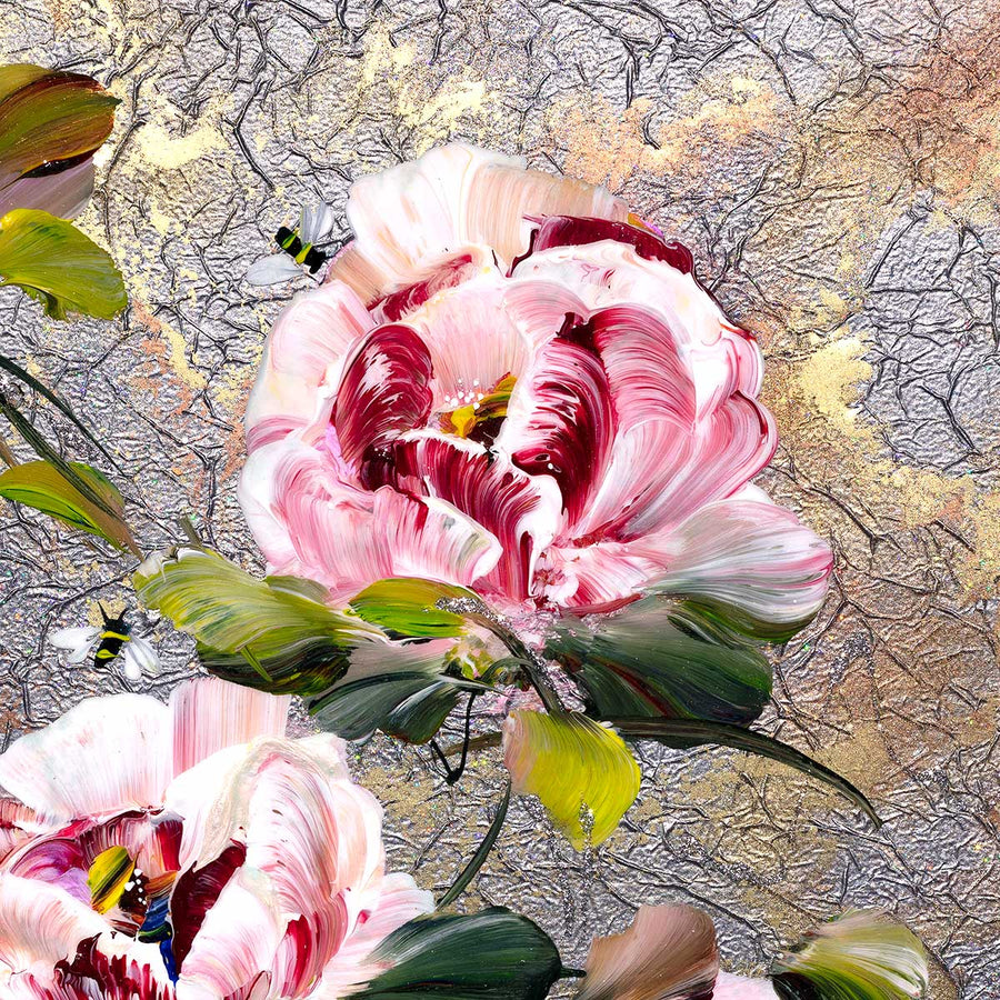 Peony Passion I - Original Rozanne Bell Framed