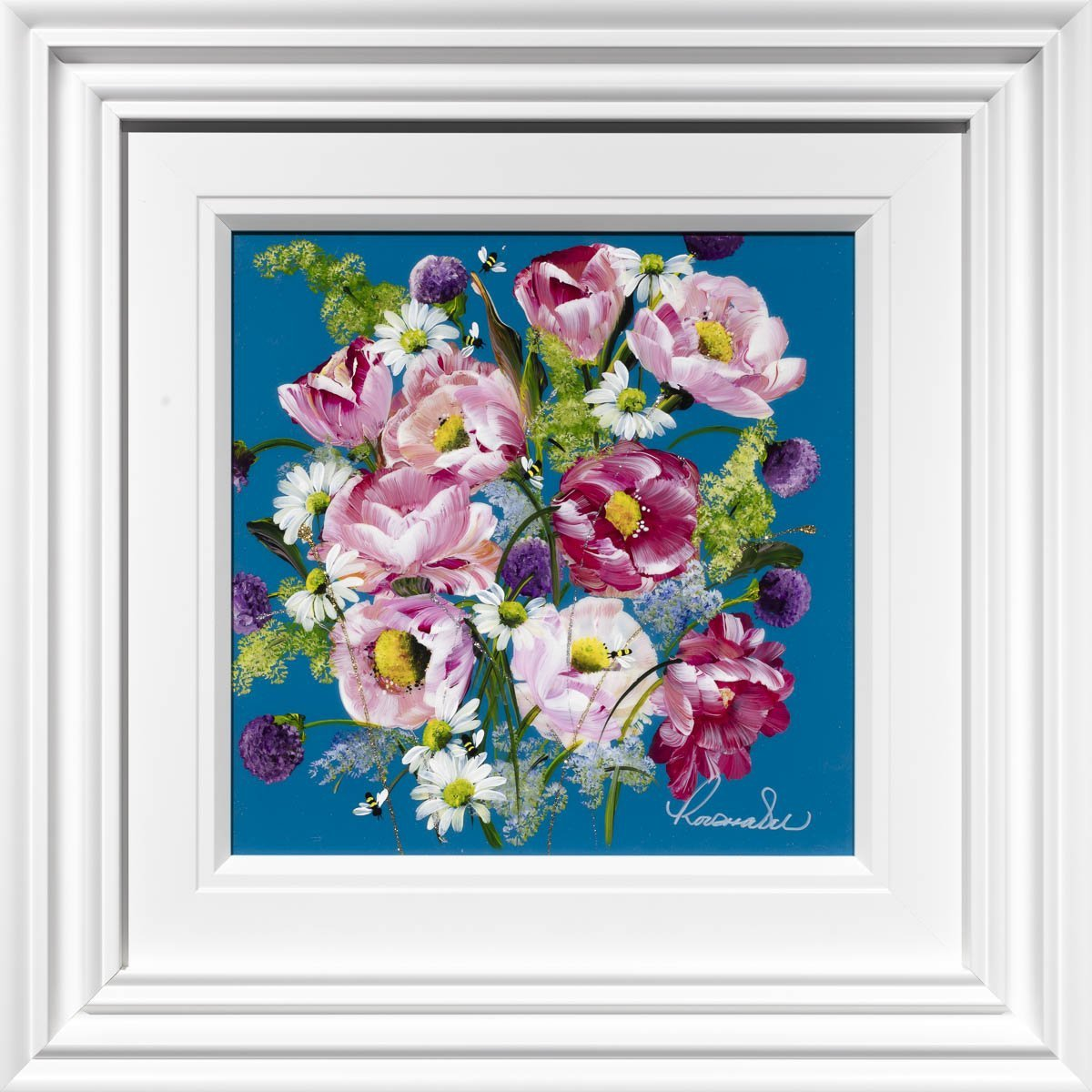 Pink Passion - Original Rozanne Bell Framed