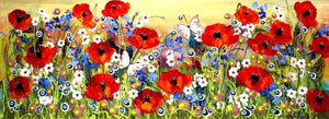 Poppies, Daisies & Butterflies - SOLD Rozanne Bell