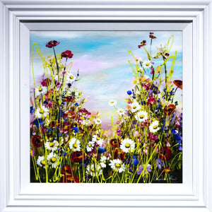 Poppies in Bloom - Original Rozanne Bell Framed