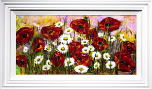 Poppy and Daisy Flourish Rozanne Bell Framed