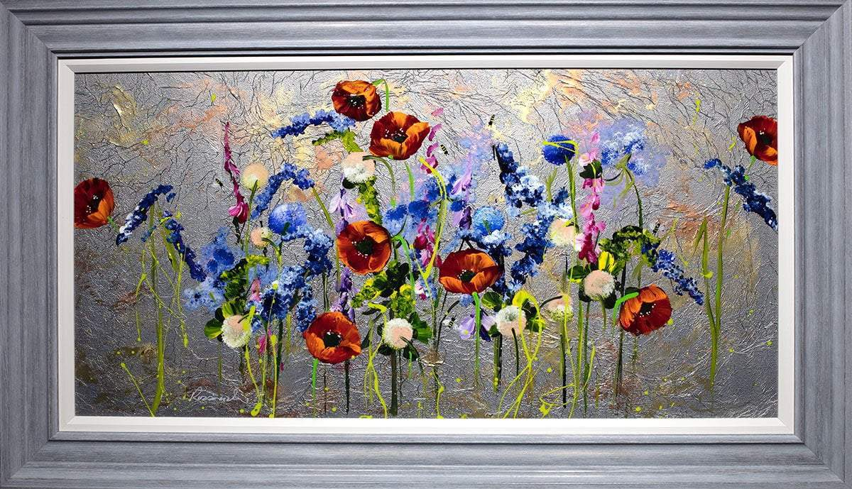 Poppy Panorama - Original Rozanne Bell Framed