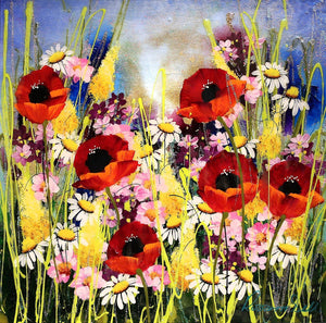 Pretty Poppies I - SOLD Rozanne Bell