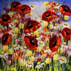 Pretty Poppies II - SOLD Rozanne Bell