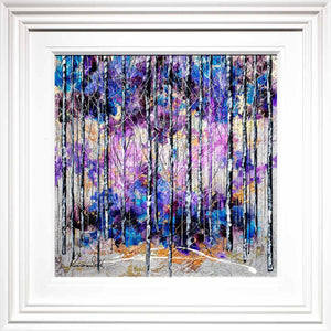 Purple Hope - Original Rozanne Bell Framed