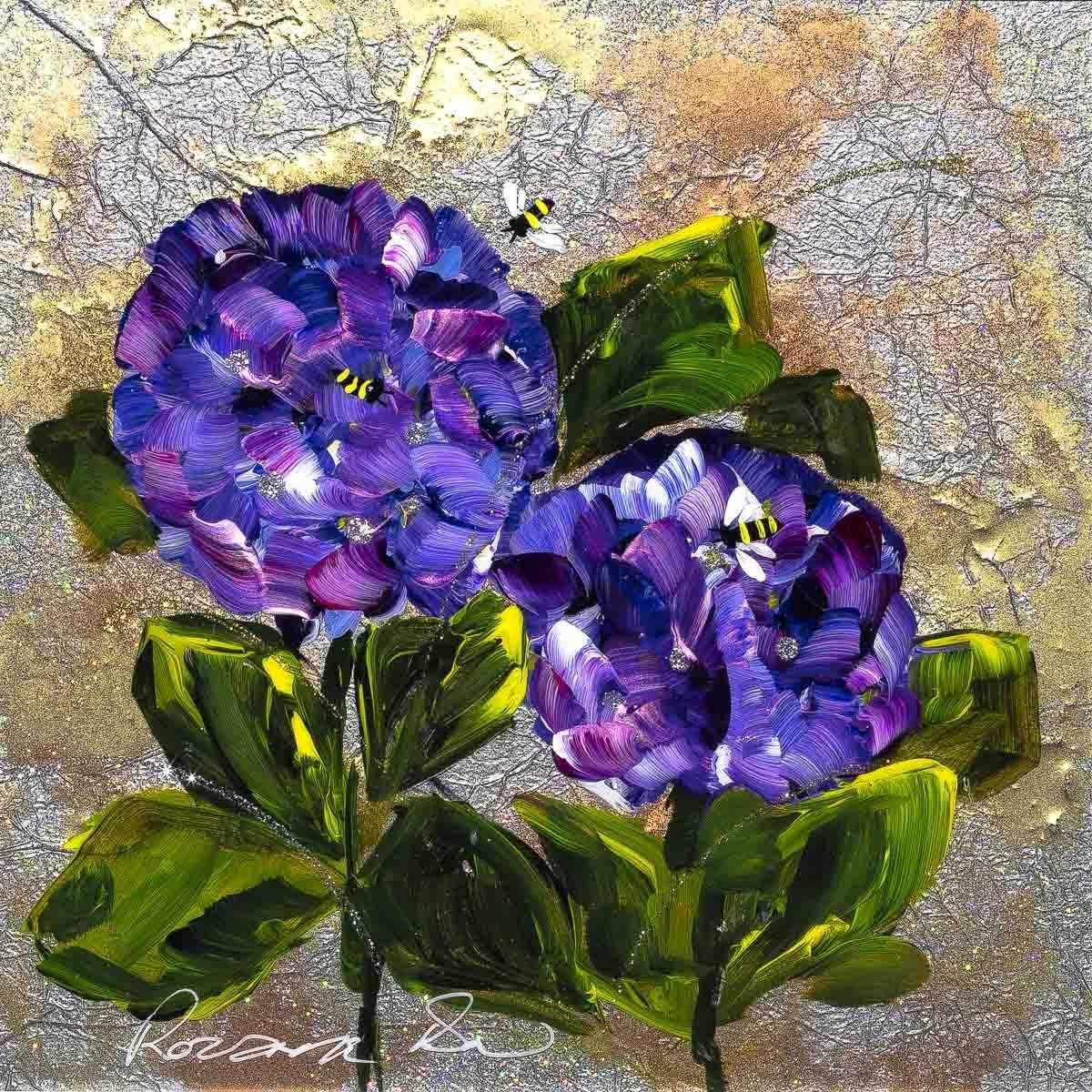 Purple Posy Rozanne Bell Framed