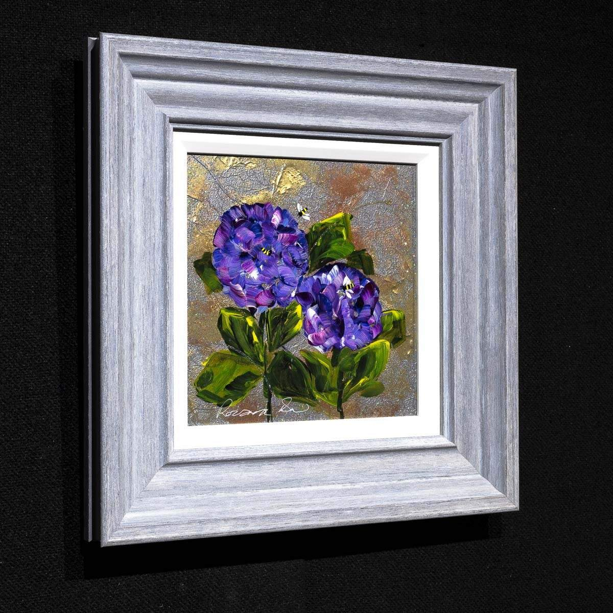 Purple Posy - Original Rozanne Bell Framed