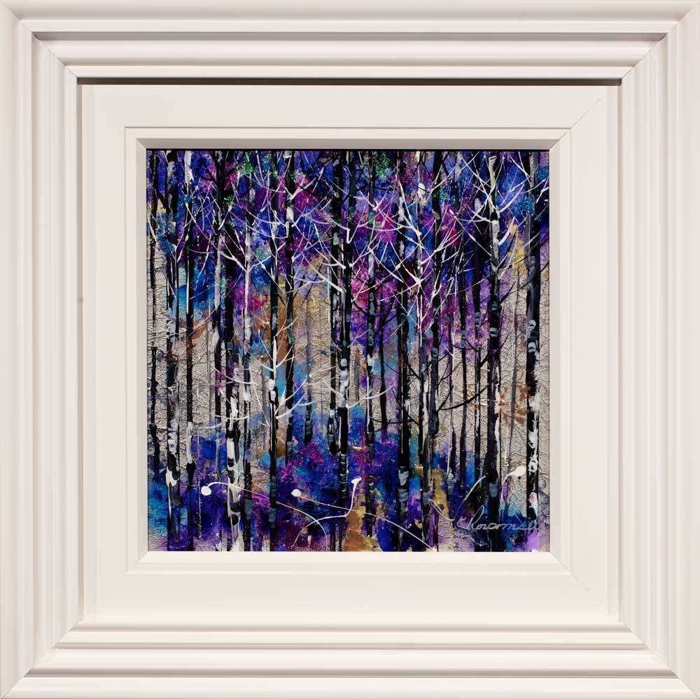 Purple Shimmer Rozanne Bell Framed