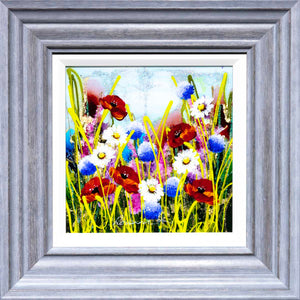 Rainbow Meadow III - Original Rozanne Bell Framed