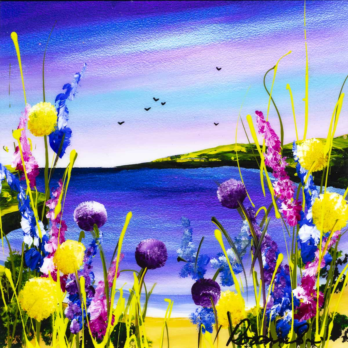 Seaside Blooms II - Original - SOLD