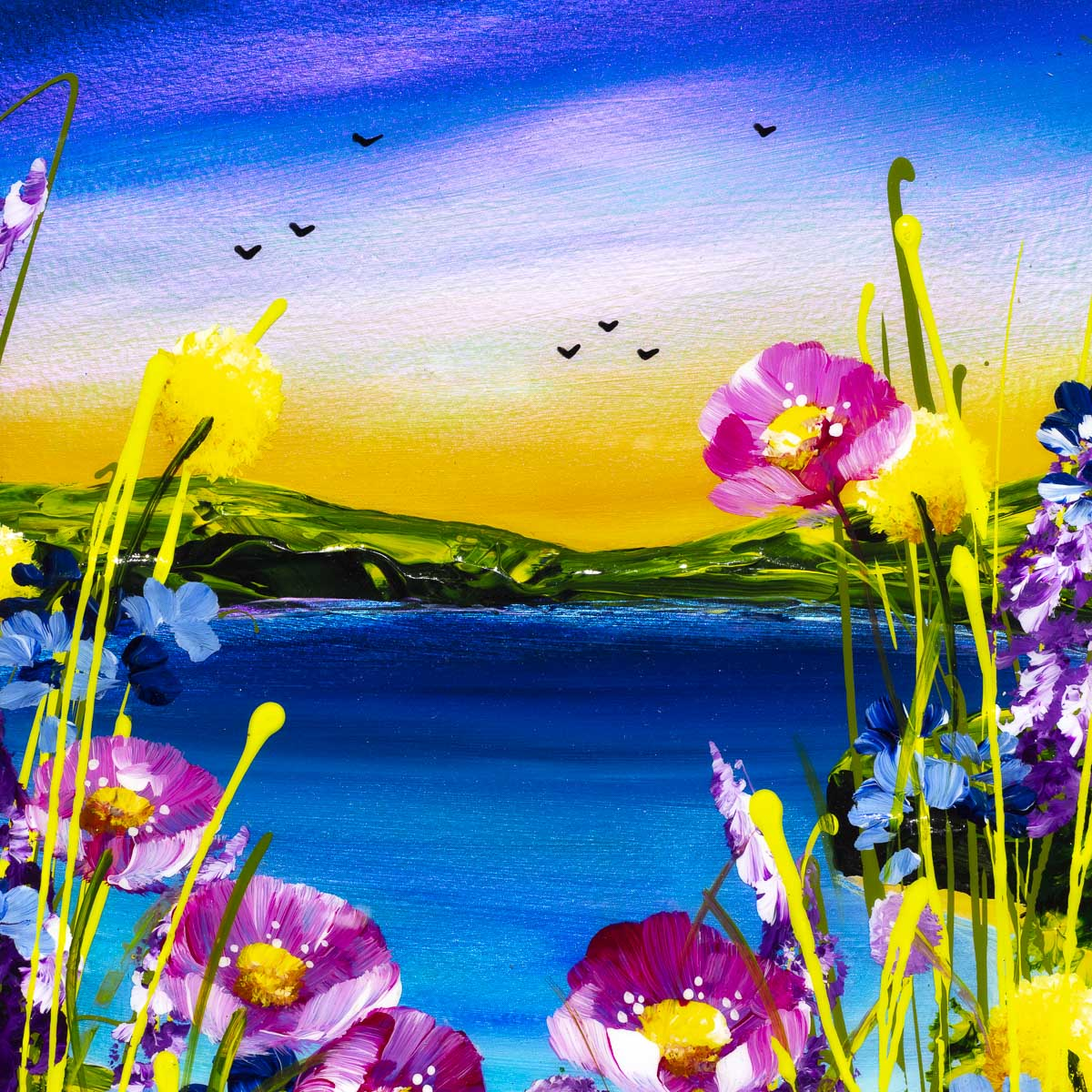 Seaside Blooms III - Original - SOLD
