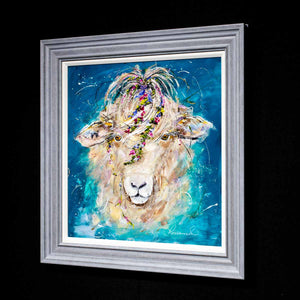 Shauna Sheep - Original Rozanne Bell Framed