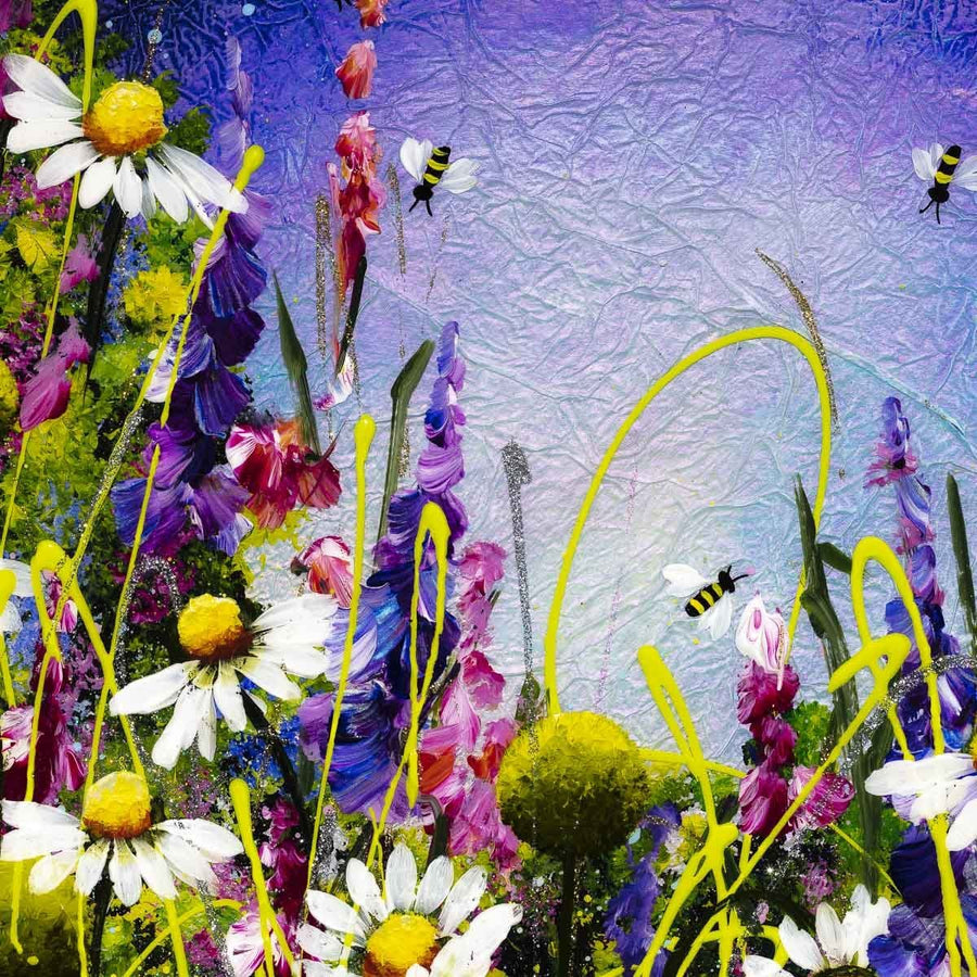 Sparkles In The Meadow II Rozanne Bell Framed