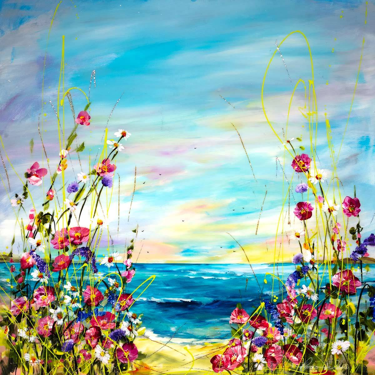 Spring Delight - Original Rozanne Bell Framed