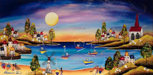 Sunset Harbour - Original Rozanne Bell