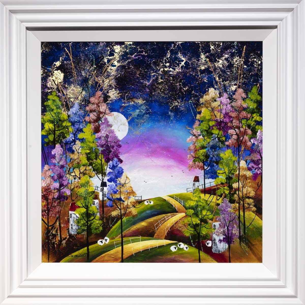 Under the Moon - Original Rozanne Bell Framed