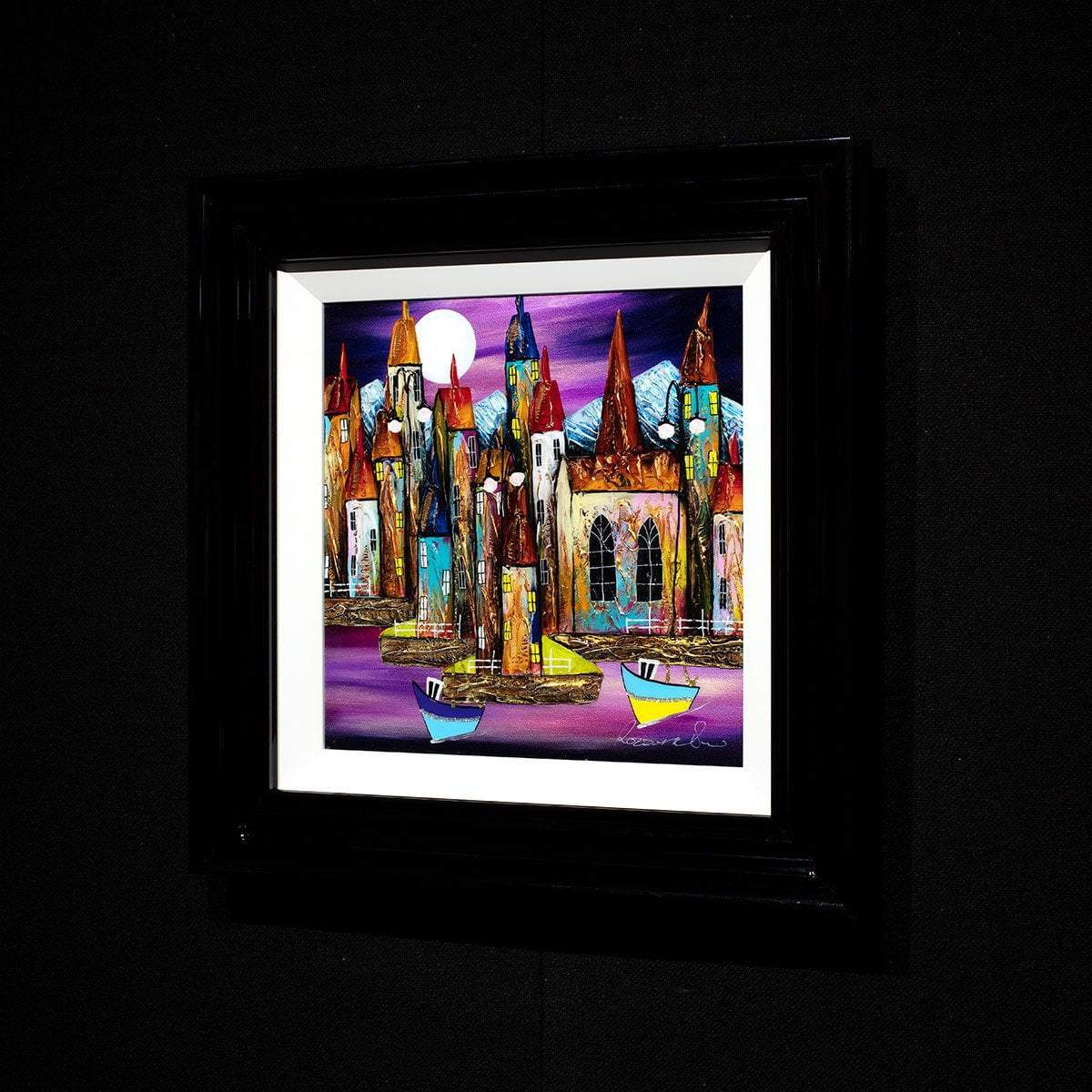 Violet Nights - Original Rozanne Bell Framed