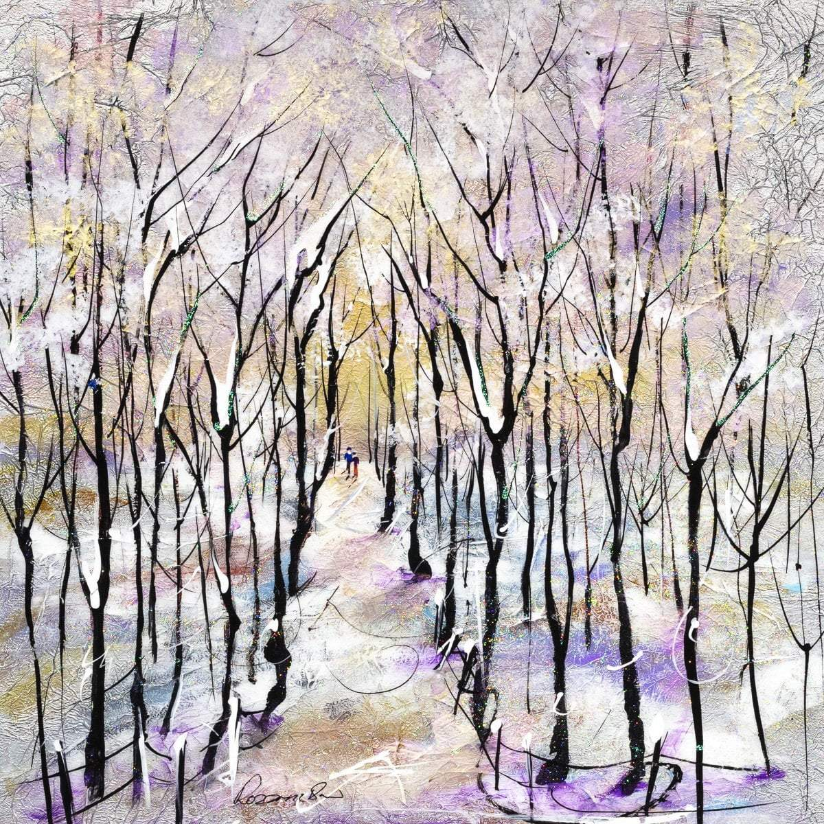 Winter Woodland - Original Rozanne Bell Framed