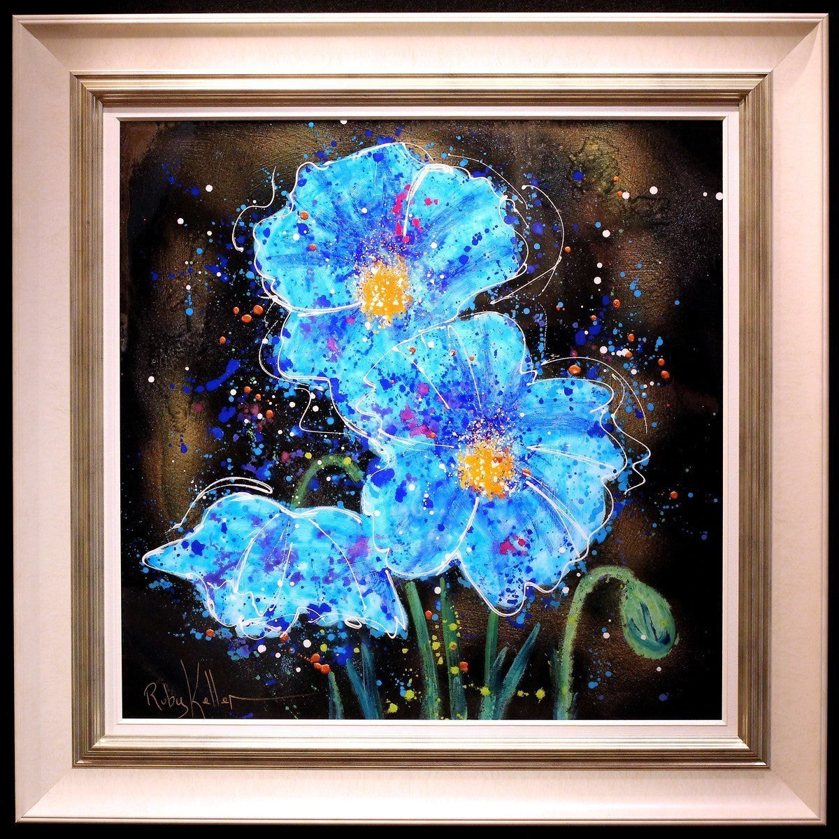 Blue Blooms II - SOLD Ruby Keller