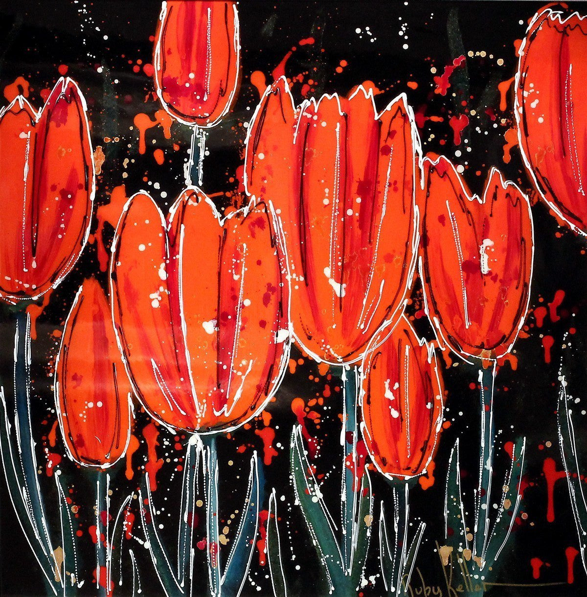 Red Tulips - SOLD Ruby Keller