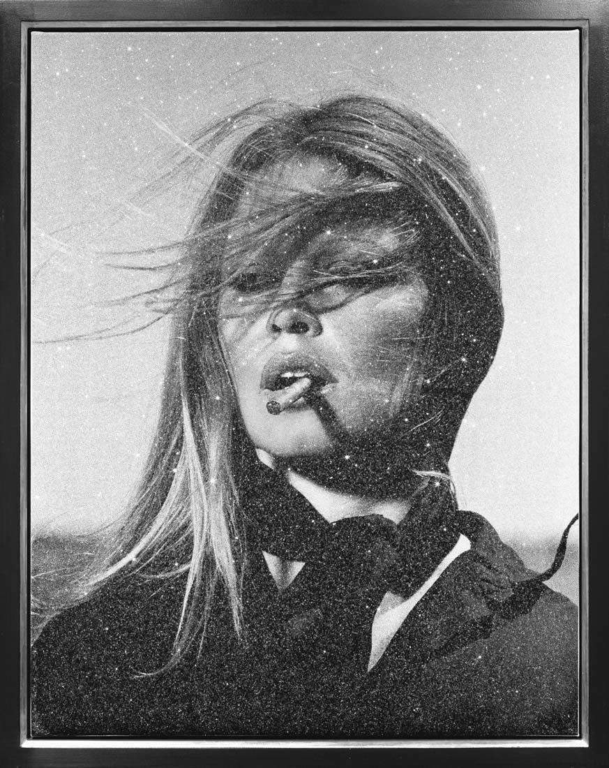 Bardot With Cigar Canvas  - Limited Edition Simon Claridge