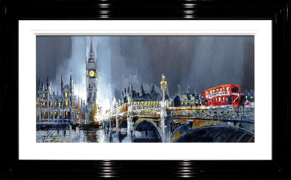 Across The Thames - Original Simon Wright Framed