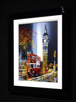 Autumn in the Capital - Original Simon Wright Framed