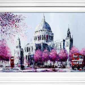 Blossoms of St. Paul's - Original Simon Wright Framed