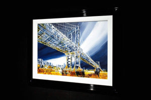 Manhattan Bridge - Original Simon Wright Framed