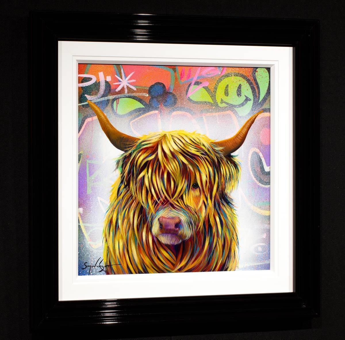 Raging Bull Simon Wright Framed