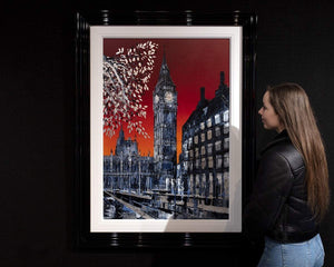 Red Skies at Night - Original Simon Wright Framed