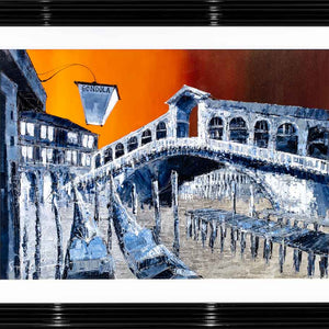 Sunset Over Venice - Original Simon Wright Framed