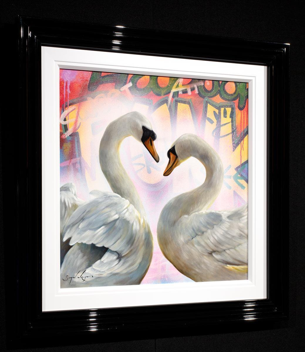 Swan Song - Original Simon Wright Framed