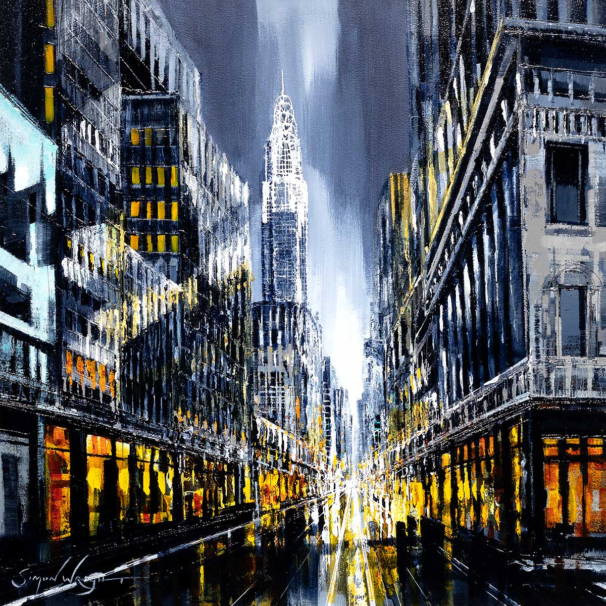 The City That Never Sleeps - Original Simon Wright Framed